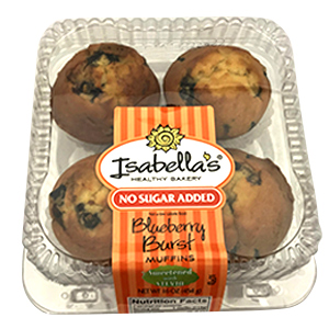 Isabella's® Thaw & Sell No Sugar Added Muffins